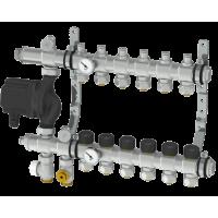 Интегрированный коллектор Thermotech из нержавеющей стали со встроенным смесительным узлом на 2 контура. 56202