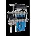 Интегрированный коллектор Thermotech из нержавеющей стали со встроенным смесительным узлом на 4 контура. 50204-6