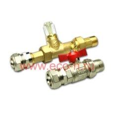 Комплект присоединения трубы 26х3,0  с балансировочным клапаном