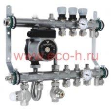 Интегрированный коллектор со встроенным смесительным узлом на 10 контуров. 50210-6